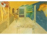 study, the painted room by leonard rosoman