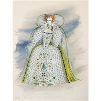 costume design for beverly sills as elizabeth in donizetti's roberto devereux by jose varona