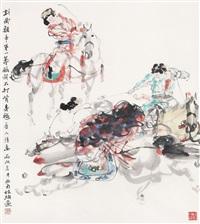 唐人马球图 by xu hengyu