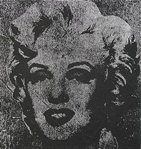 not warhol, one silver marilyn, 1962 by mike bidlo
