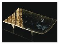 oribe rectangular plate by kitaoji rosanjin