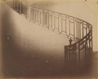 escalier de l'hôtel jean de fourcy, 30 rue des francs-bourgeois à paris by eugène atget