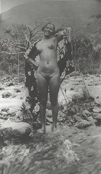 jeune tahitienne nue by roger parry