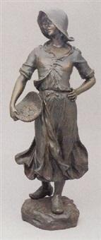 peasant girl gleaner by alfred charles lenoir