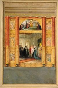 scene di vita di santo by nicolo barabino