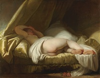 a young girl sleeping by jean honoré fragonard