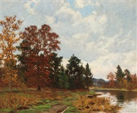 autumn afternoon by william merritt post