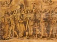 le triomphe de jésus (set of 9 engraved by nicolas de larmessin) by titian (tiziano vecelli)
