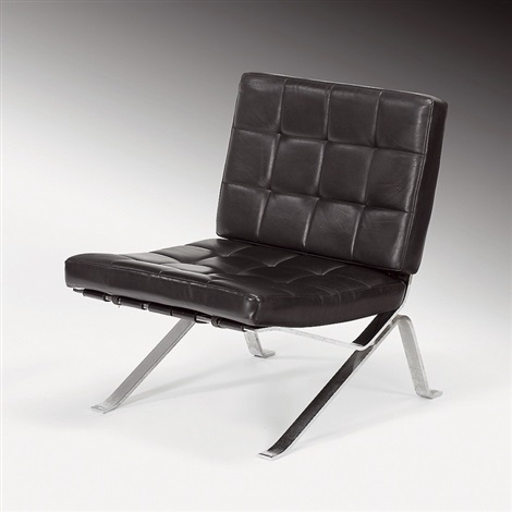 robert haussmann sessel rh 301 hommage mies van der rohe 1954 76. Black Bedroom Furniture Sets. Home Design Ideas