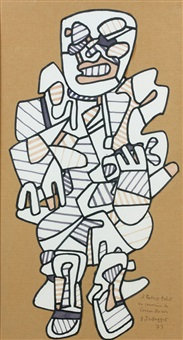 personnage by jean dubuffet