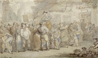 the village violinist by thomas rowlandson