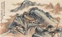 泉声咽石图 by xu shiqi