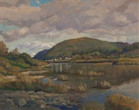 village on flatlands, restigouche by gordon allen