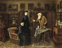the antique dealer by carl johann spielter