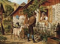 at the cottage window by gustav zafaurek