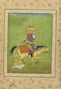 iraj on horseback hunting with a falcon by anonymous-indian-mughal (16)