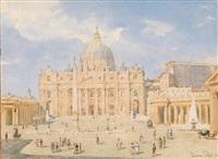blick über den platz auf st. peter in rom by franz alt