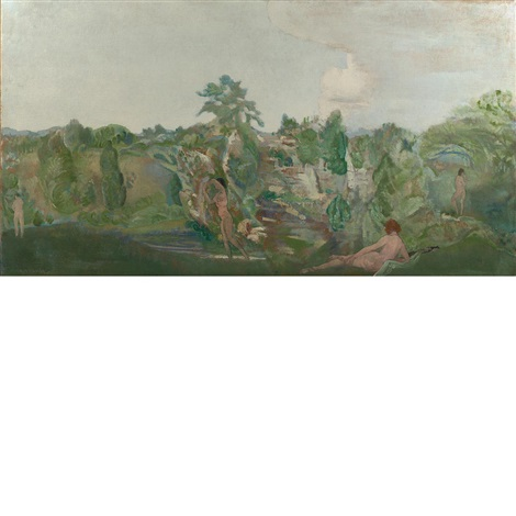 idyllic landscape by arthur bowen davies
