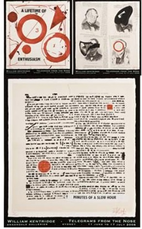 telegrams from the nose (3 works) by william kentridge