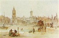 st. nicholas church and tower buildings, liverpool by william gawin herdman