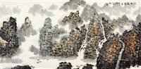 江村轻雾图 镜片 纸本 by lei zhengmin