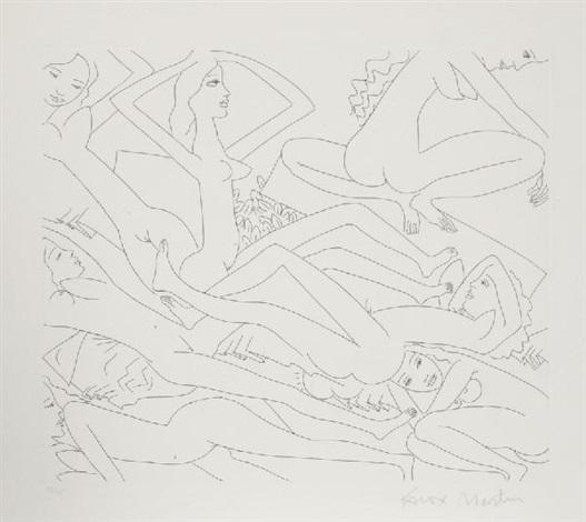 dancing nudes ii by knox martin