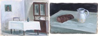 pane e acqua e senza titolo (2 works) by silvano d' ambrosio