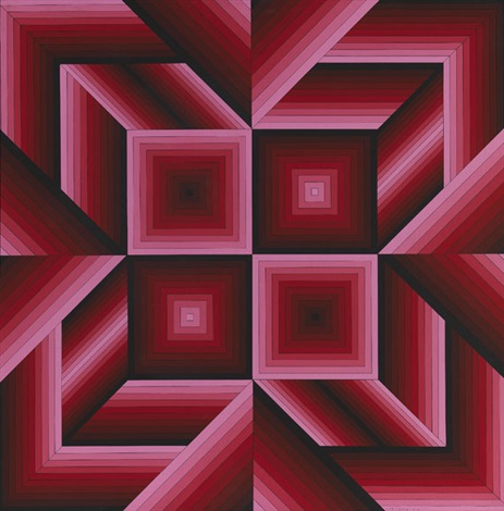 saman n° 3313 by victor vasarely