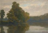 lever de brume sur l'étang by pierre abattucci