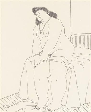 mujer que se desnuda by fernando botero