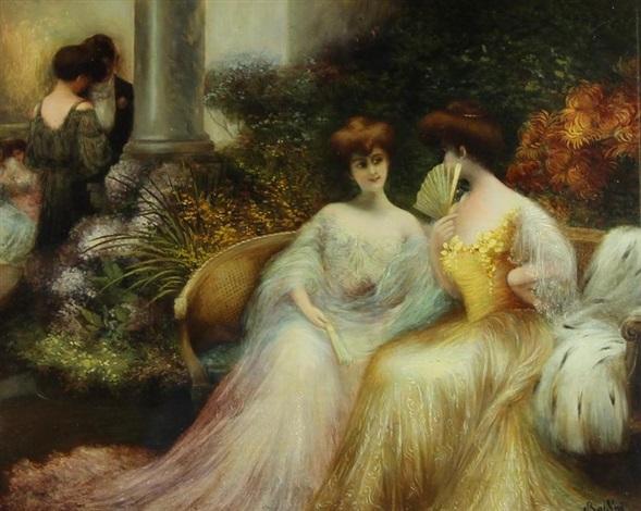 elegantes à la conversation by giovanni boldini