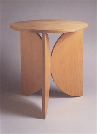 plywood tripod table by scott burton