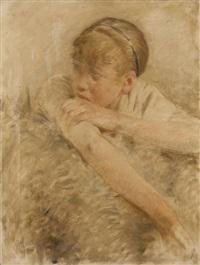étude de jeune paysanne (study) by auguste dael
