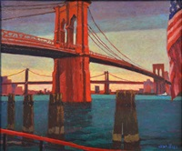 l'east-river, nyc by jean pesce