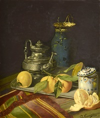 still-life with citrus fruits by c. limouzis