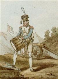 a french drummer by john augustus atkinson
