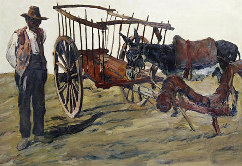 the donkey cart by erich wolfsfeld