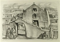 taos church by frederick monhoff