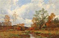 autumn landscape by william merritt post