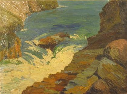 water over rocks by yarnall abbott