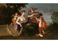 allegorie des frühlings by charles françois poerson