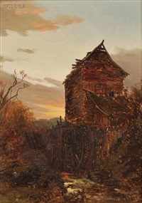 old mill, berkshire county by george herbert mccord