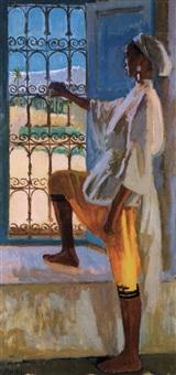 jeune marocaine à la fenêtre by georges andre klein