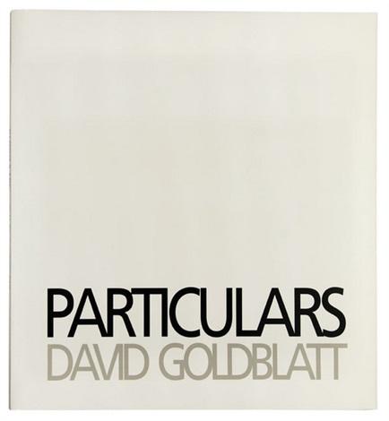 particulars (bk w/27 works, half-title, folio) by david goldblatt