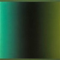 chromatisches relief blaugrün-schwarz-grün by raimer jochims
