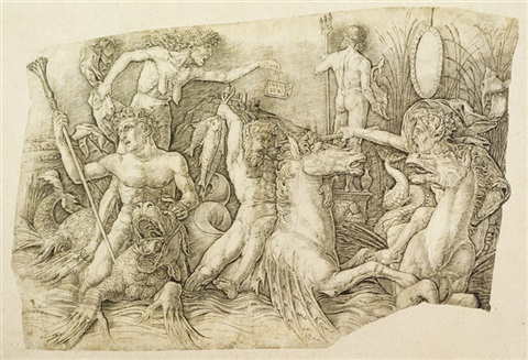 the battle of the sea gods by andrea mantegna