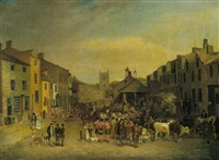 the skipton fair of 1830 by thomas burras