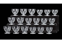 various glasses: charme (set of 18) by baccarat