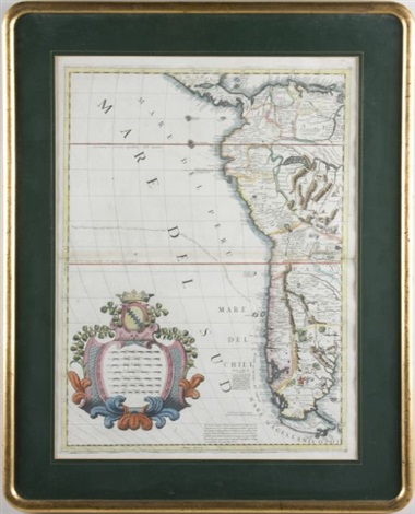 map of western south america from americae medionale by vincenzo maria coronelli