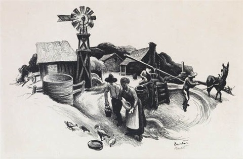 missouri farmyard by thomas hart benton